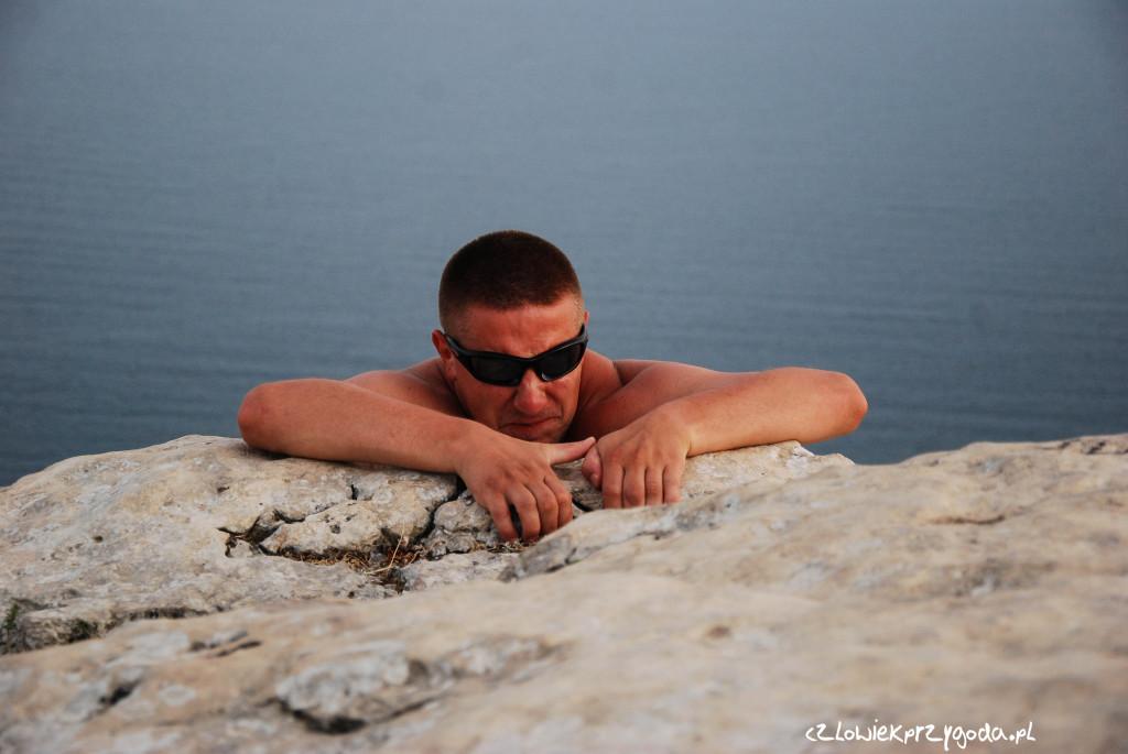 Człowiek Koło na Ukraińskim szlaku