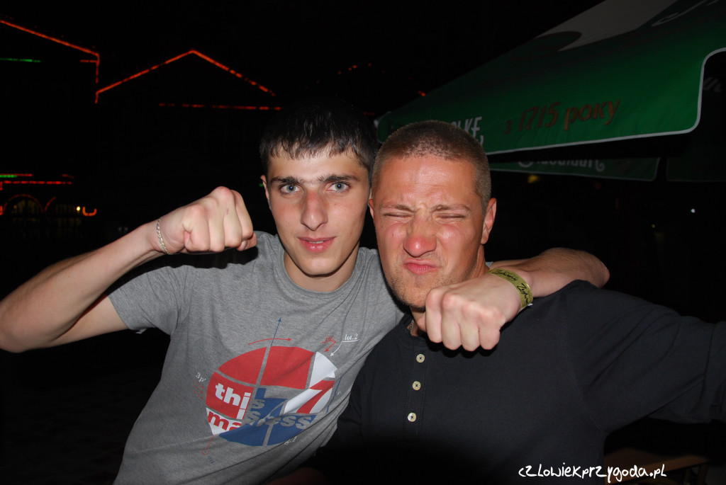 Marcin z groźnym kibicem Spartaku Moskwy