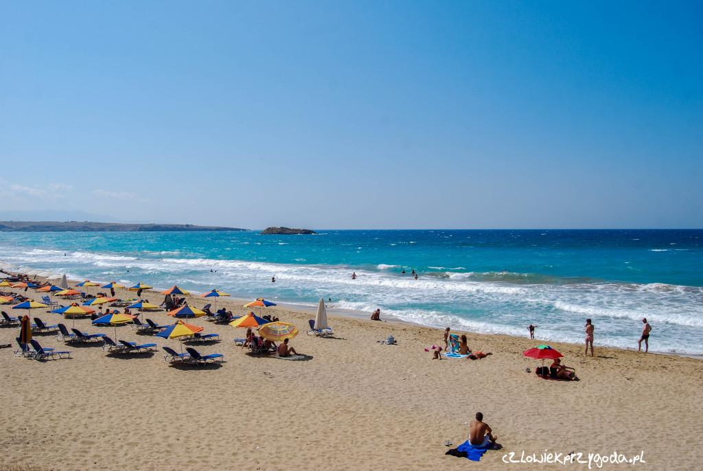 Plaża na największej Greckiej wyspie - Krecie.
