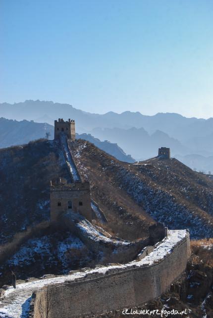 Mur Chiński zimą 1