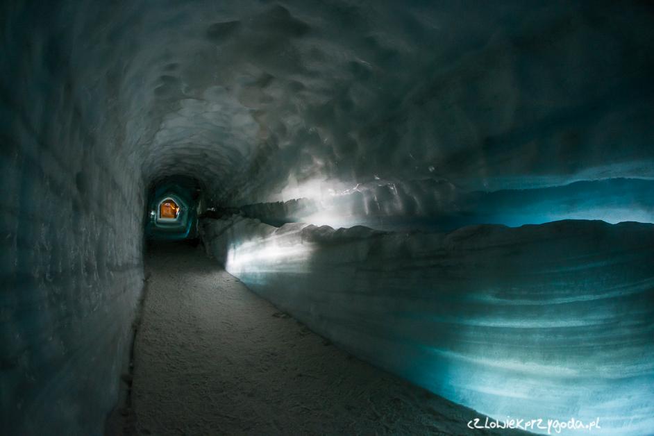 lodowy tunel